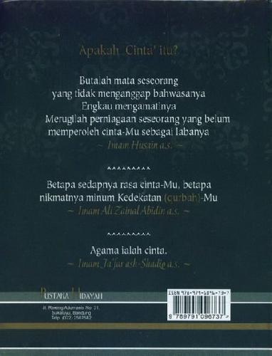 Cover Belakang Buku Doa Suci Keluarga Nabi