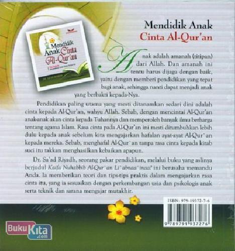 Cover Belakang Buku Mendidik Anak Cinta Al-quran