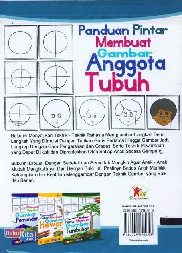 Cover Belakang Buku Panduan Pintar Membuat Gambar Anggota Tubuh (full color)
