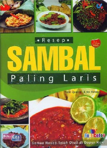 Cover Buku Resep Sambal Paling Laris (full color)