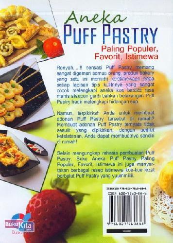 Cover Belakang Buku Aneka Puff Pastry Paling Populer, Favarit, Istimewa (full color)