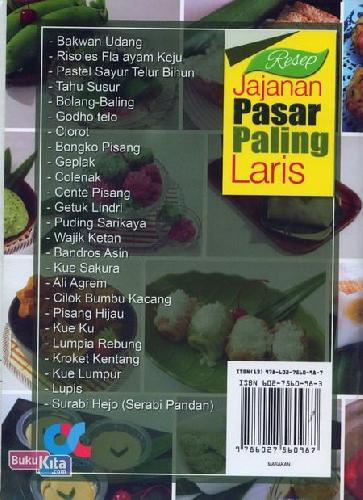 Cover Belakang Buku Resep Jajajan Pasar Paling Laris (full color)