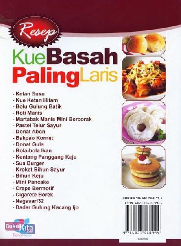 Cover Belakang Buku Resep Kue Basah Paling Laris (full color)