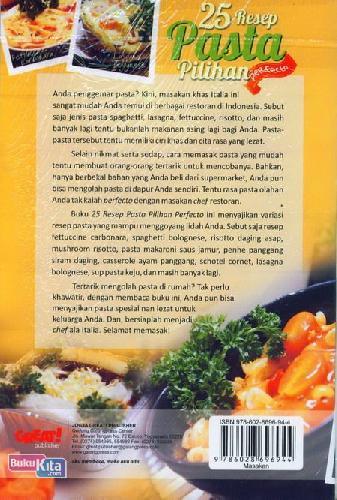 Cover Belakang Buku 25 Resep Pasta Pilihan Perfecto