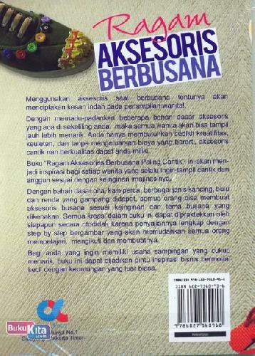 Cover Belakang Buku Ragam Aksesoris Berbusana Paling Cantik