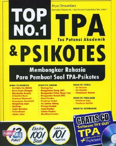 Cover Buku Top No 1 TPA dan Psikotes