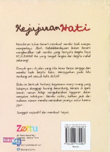 Cover Belakang Buku Kejujuran Hati