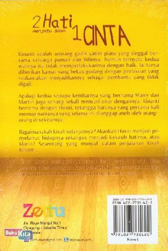 Cover Belakang Buku 2 Hati Menyatu dalam 1 Cinta