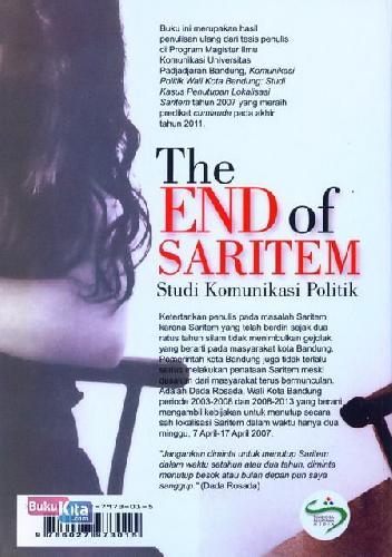 Cover Belakang Buku The End of Saritem - Studi Komunikasi Politik