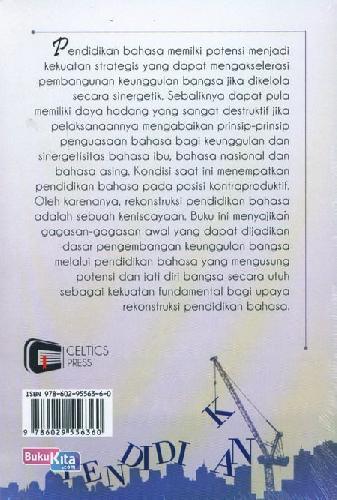 Cover Belakang Buku Rekonstruksi Pendidikan Bahasa