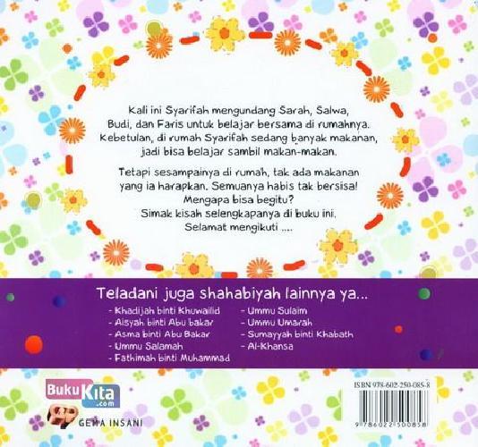 Cover Belakang Buku Seri Shahabiyah - Zainab binti Khuzaimah - Ibu Penyayang