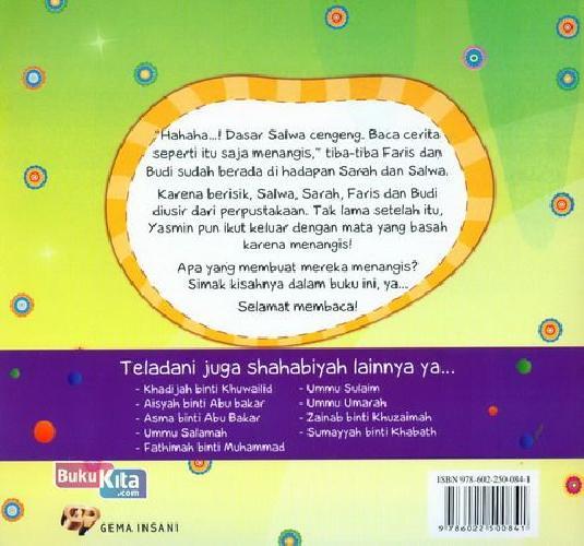 Cover Belakang Buku Seri Shahabiyah - al-Khansa - Ibu Para Syuhada