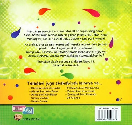 Cover Belakang Buku Seri Shahabiyah - Ummu Salamah - Muslimah yang Bijak