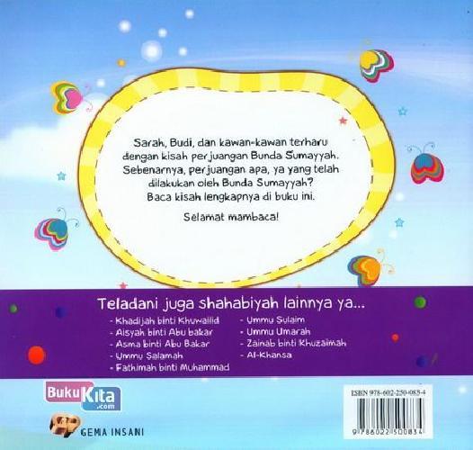 Cover Belakang Buku Seri Shahabiyah - Sumayyah binti Khabath - Syahidah Pertama