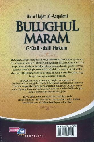 Cover Belakang Buku Bulughul Maram dan Dalil-dalil Hukum
