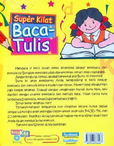 Cover Belakang Buku Super Kilat Baca-Tulis (Full Color Edition)