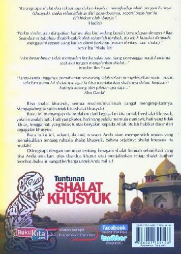 Cover Belakang Buku Tuntunan Shalat Khusyuk uku Islam