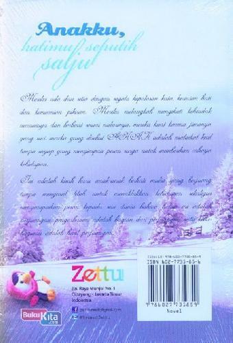 Cover Belakang Buku Anakku Hatimu Seputih Salju