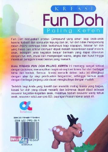 Cover Belakang Buku Kreasi Fun Doh Paling Keren Untuk Hobi dan Bisnis