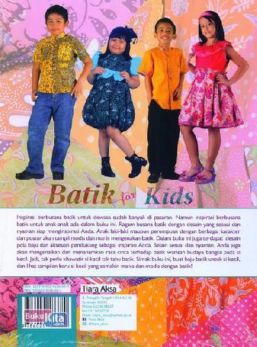 Cover Belakang Buku Batik for Kids