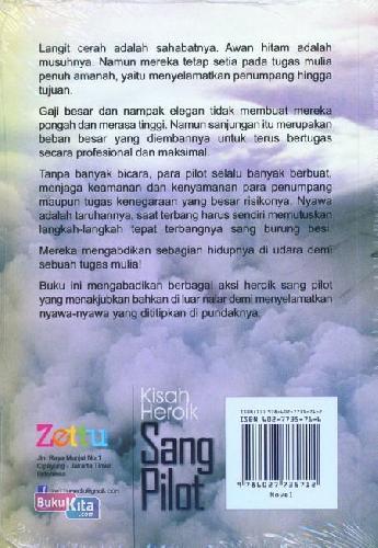 Cover Belakang Buku Kisah Heroik Sang Pilot