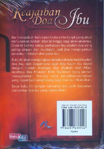 Cover Belakang Buku Keajaiban Doa Ibu