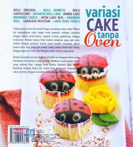 Cover Belakang Buku Variasi Cake Tanpa Oven