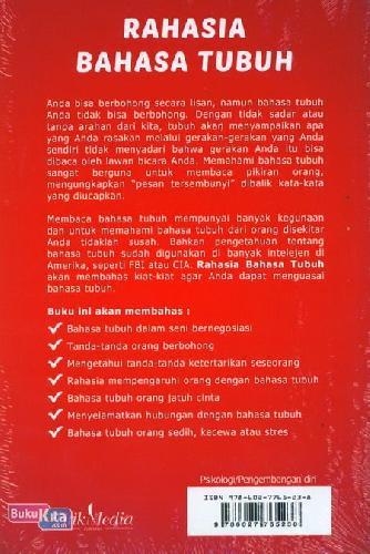 Cover Belakang Buku Rahasia Bahasa Tubuh