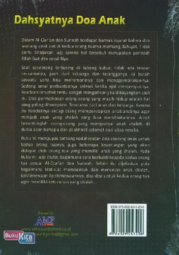 Cover Belakang Buku Dahsyatnya Doa Anak