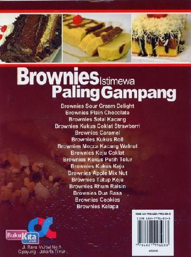 Cover Belakang Buku Brownies Istimewa Paling Gampang (full color)