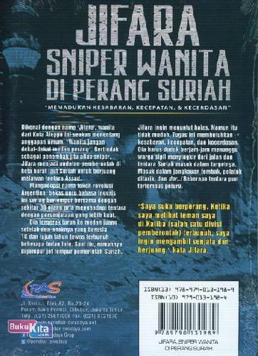 Cover Belakang Buku Jifara Sniper Wanita Di Perang Suriah