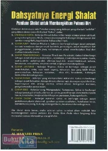 Cover Belakang Buku Dahsyatnya Energi Shalat : Panduan Shalat untuk Membangkitkan Potensi Diri