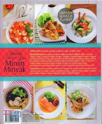 Cover Belakang Buku Masakan Harian Lezat Minim Minyak