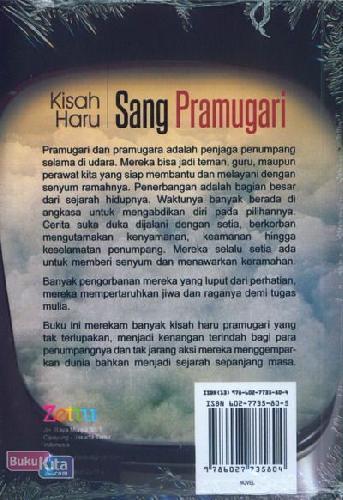 Cover Belakang Buku Kisah Haru Sang Pramugari