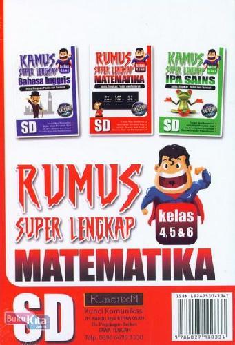 Cover Belakang Buku Rumus Super Lengkap Matematika SD Kelas 4,5,&6