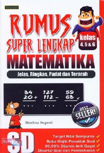 Cover Buku Rumus Super Lengkap Matematika SD Kelas 4,5,&6