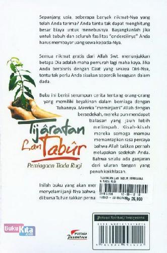 Cover Belakang Buku Tijaratan Lan Tabur. Perniagaan Tiada Rugi