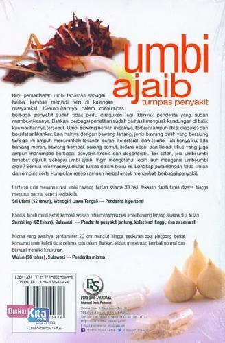 Cover Belakang Buku Umbi Ajaib Tumpas Penyakit