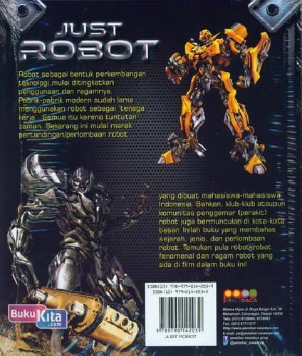 Cover Belakang Buku Just Robot