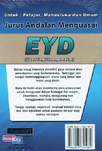 Cover Belakang Buku Jurus Andalan Menguasai EYD