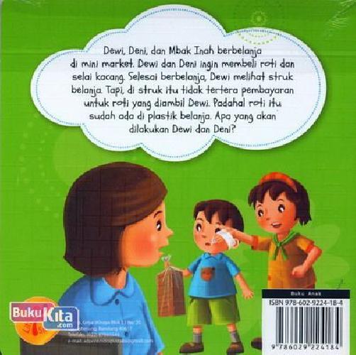 Cover Belakang Buku Seri Anak Cerdas : Aku Anak Jujur