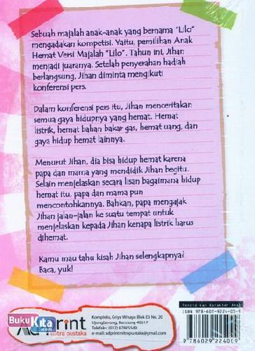 Cover Belakang Buku Seri Pendidikan Karakter : Anak Hemat Versi Majalah Lilo
