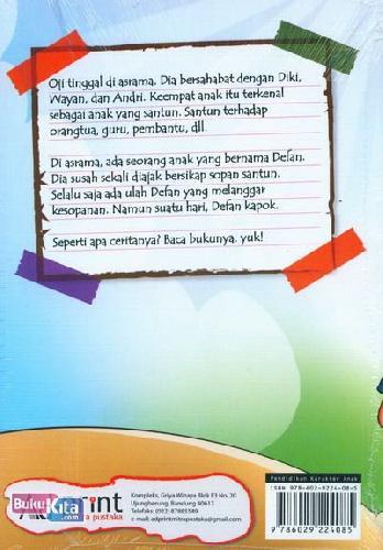 Cover Belakang Buku Seri Pendidikan Karakter : Oji si Anak Santun