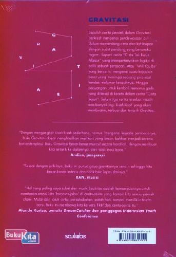 Cover Belakang Buku Gravitasi - cover berwarna merah