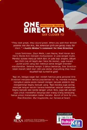 Cover Belakang Buku ONE DIRECTION GET CLOSER TOO