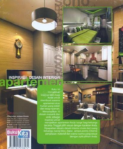 Cover Belakang Buku Inspirasi Desain Interior Apartemen