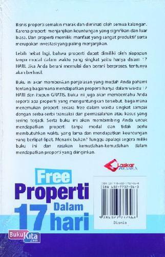 Cover Belakang Buku Free Properti Dalam 17 Hari