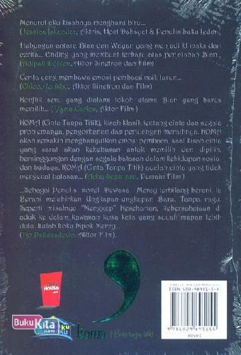 Cover Belakang Buku Koma (Cinta Tanpa Titik)
