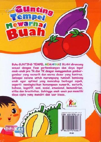 Cover Belakang Buku Gunting Tempel Mewarnai Buah (Bilingual)