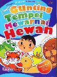 Gunting Tempel Mewarnai Hewan (Bilingual)